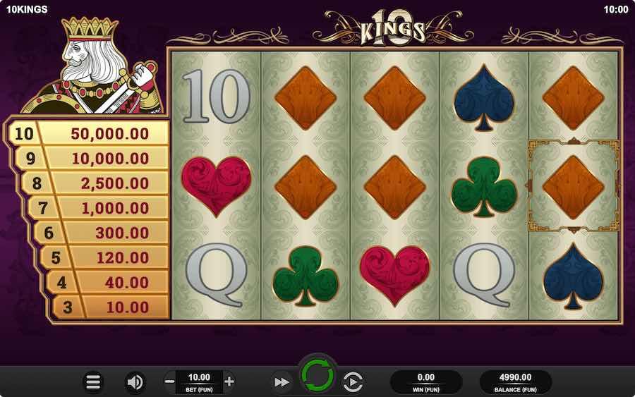 10 KINGS SLOT ธีม, การจ่ายเงิน & สัญลักษณ์ต่างๆ
