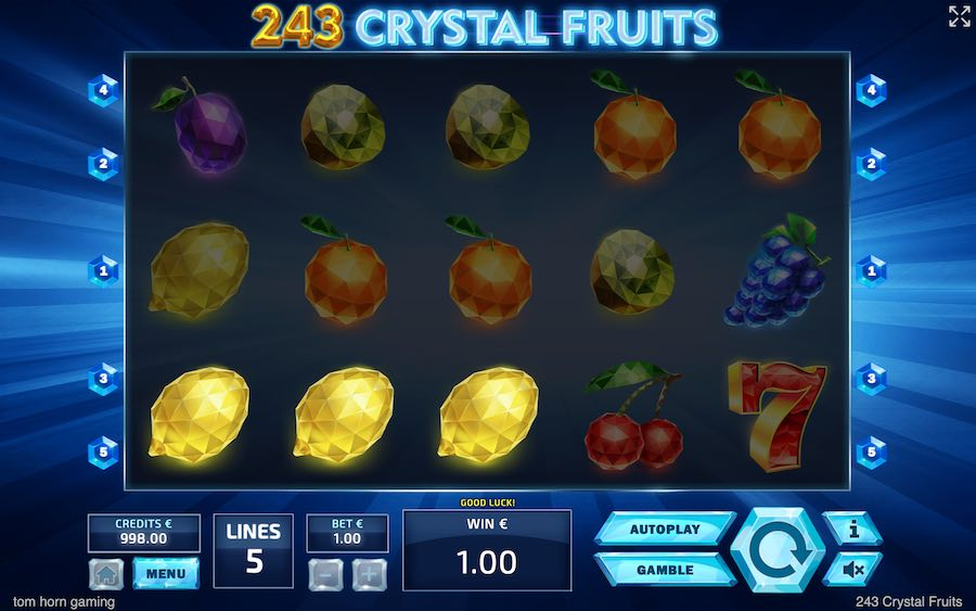 243 CRYSTAL FRUITS SLOT รีวิว