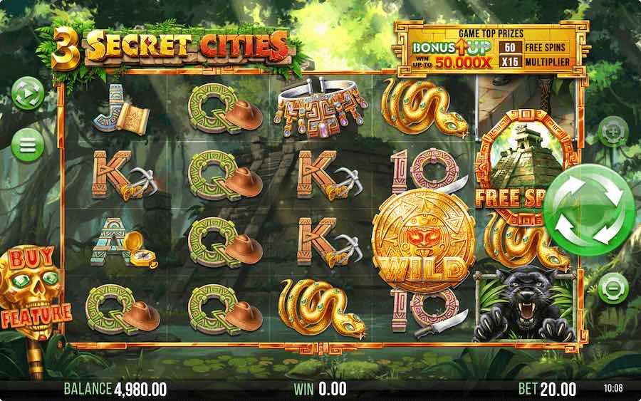 3 SECRET CITIES SLOT ธีม, การจ่ายเงิน & สัญลักษณ์ต่างๆ