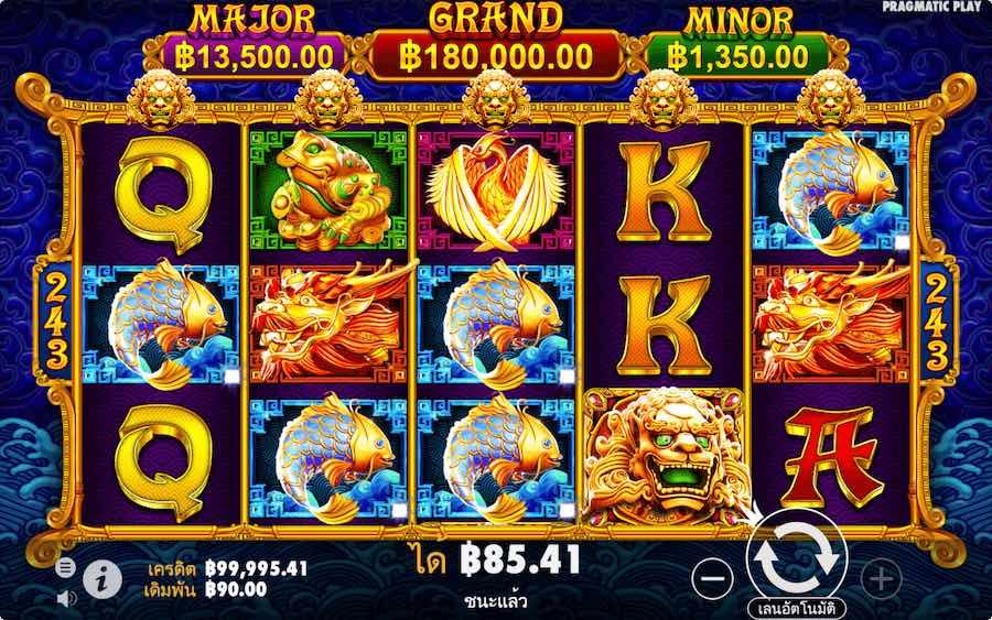 5 LIONS GOLD SLOT ธีม, การจ่ายเงิน & สัญลักษณ์ต่างๆ