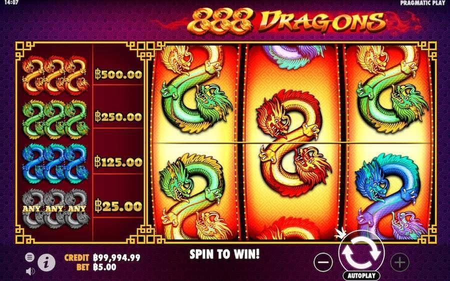 888 DRAGONS SLOT รีวิว