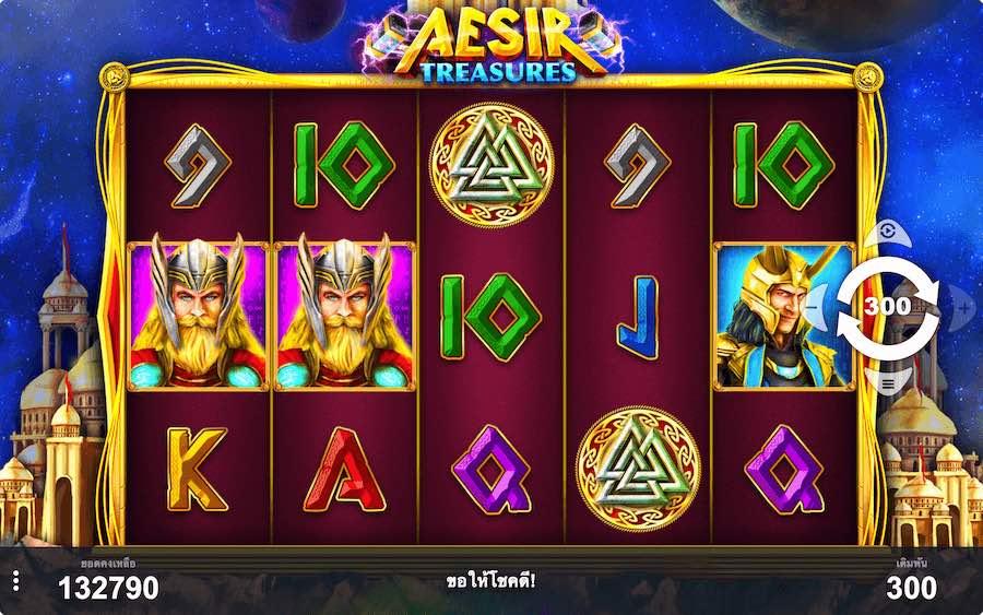 AESIR TREASURES SLOT ธีม, การจ่ายเงิน & สัญลักษณ์ต่างๆ