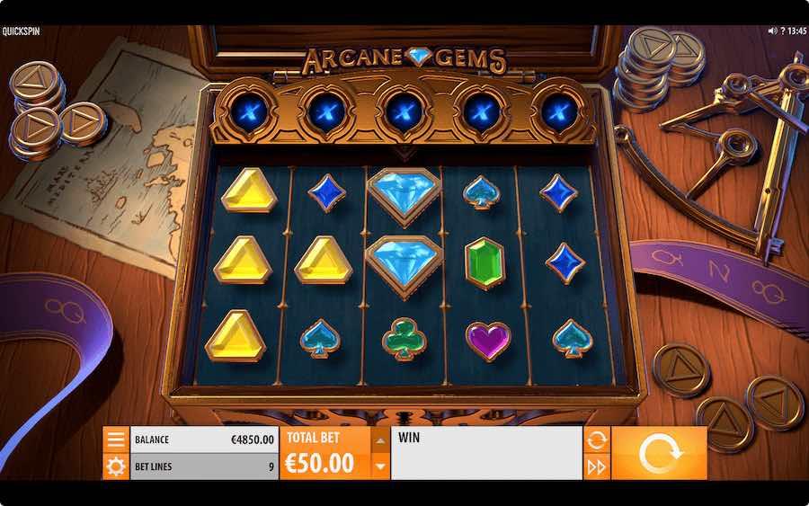 ARCANE GEMS SLOT ธีม, การจ่ายเงิน & สัญลักษณ์ต่างๆ