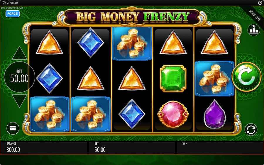 BIG MONEY FRENZY SLOT ธีม, การจ่ายเงิน & สัญลักษณ์ต่างๆ