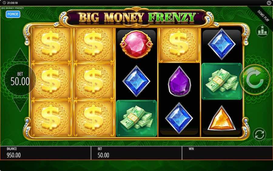 คุณสมบัติโบนัส BIG MONEY FRENZY