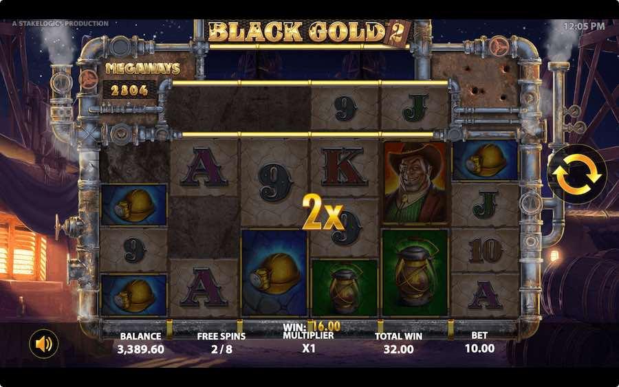 คุณสมบัติโบนัส BLACK GOLD 2 MEGAWAYS