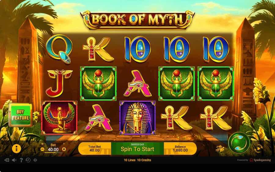 BOOK OF MYTH SLOT ธีม, การจ่ายเงิน & สัญลักษณ์ต่างๆ