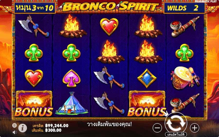 BRONCO SPIRIT SLOT ธีม, การจ่ายเงิน & สัญลักษณ์ต่างๆ