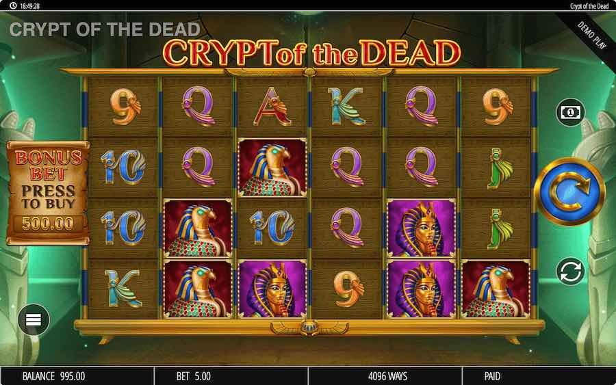 CRYPT OF THE DEAD SLOT ธีม, การจ่ายเงิน & สัญลักษณ์ต่างๆ