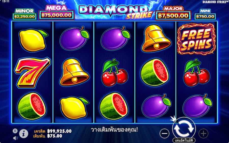 DIAMOND STRIKE SLOT ธีม, การจ่ายเงิน & สัญลักษณ์ต่างๆ