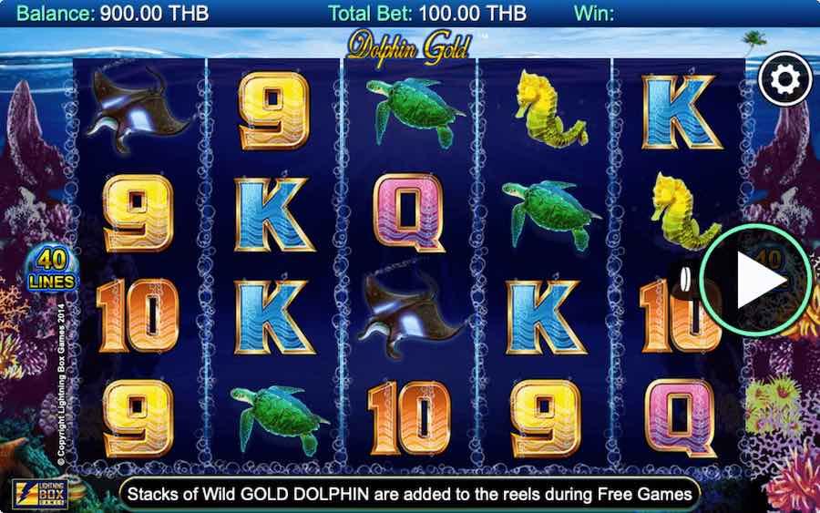 DOLPHIN GOLD SLOT ธีม, การจ่ายเงิน & สัญลักษณ์ต่างๆ