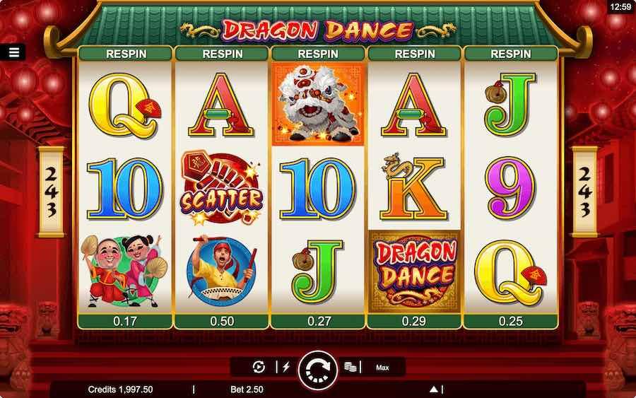 DRAGON DANCE SLOT ธีม, การจ่ายเงิน & สัญลักษณ์ต่างๆ