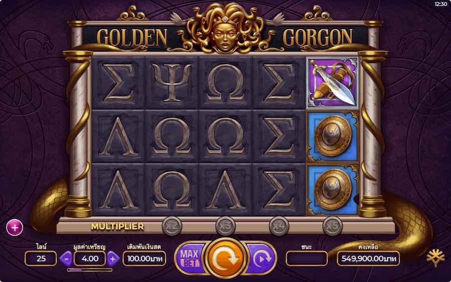 GOLDEN GORGON SLOT ธีม, การจ่ายเงิน & สัญลักษณ์ต่างๆ