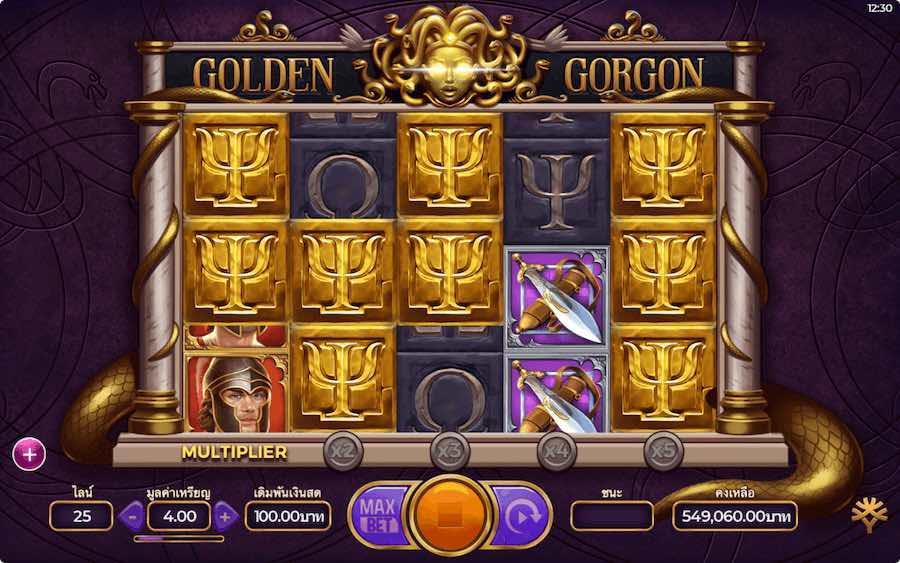 คุณสมบัติโบนัส GOLDEN GORGON SLOT