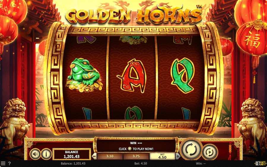 GOLDEN HORNS SLOT ธีม, การจ่ายเงิน & สัญลักษณ์ต่างๆ