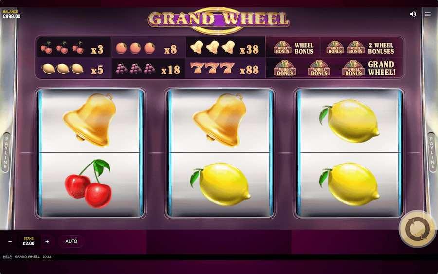 GRAND WHEEL SLOT ธีม, การจ่ายเงิน & สัญลักษณ์ต่างๆ