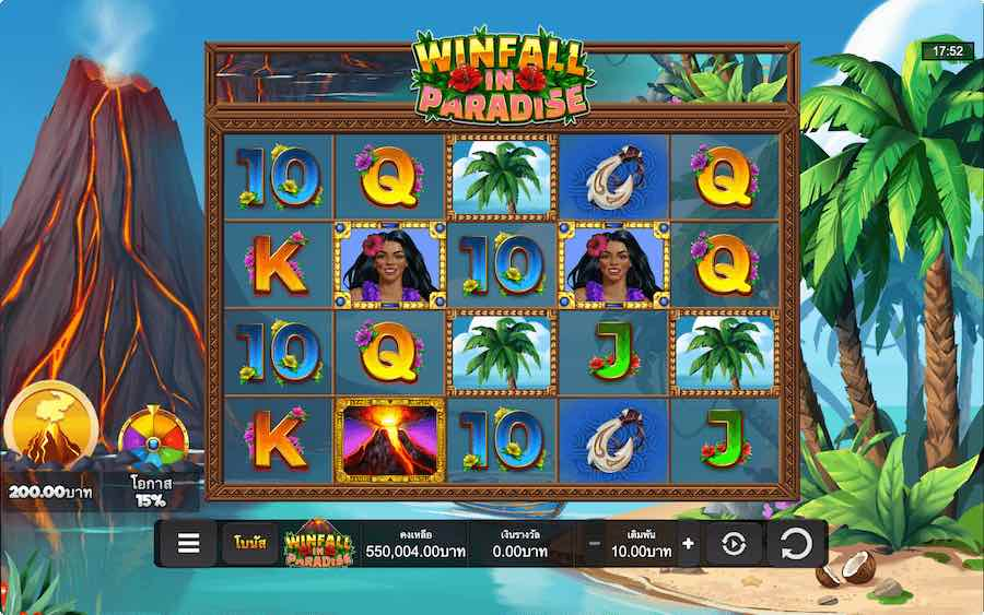 WINFALL IN PARADISE SLOT ธีม, การจ่ายเงิน & สัญลักษณ์ต่างๆ