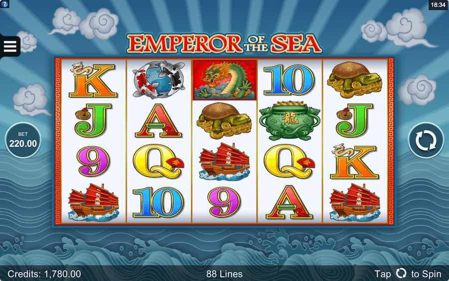 EMPEROR OF THE SEA SLOT ธีม, การจ่ายเงิน & สัญลักษณ์ต่างๆ